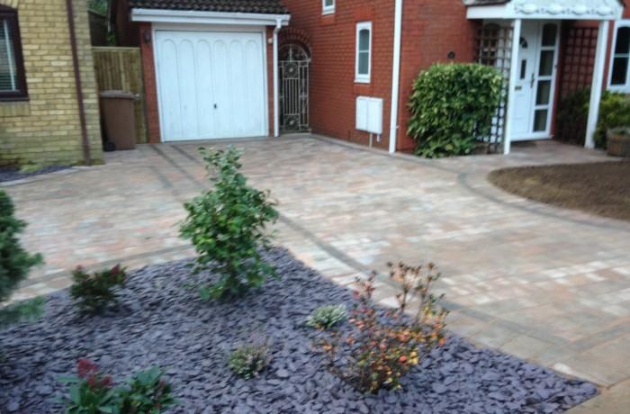 Block paved driveway, Rownhams Southampton