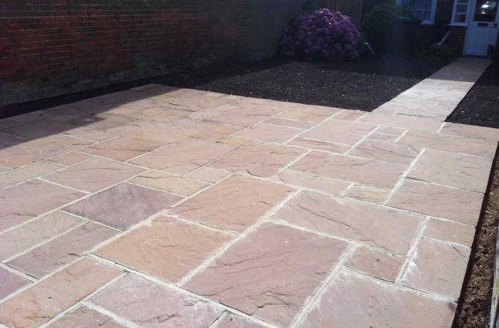 Indian sandstone paving Romsey